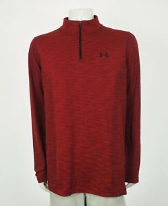 Under Armour Threadborne Red 1/4-Zip Pullover Shirt Mens 2XL XXL