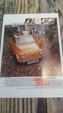 the new Fiat 500L Saloon circa 1972 Vintage Ad Gallery Postcard FT23PC No. 66