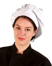 Usa Professional White Chef or Baker Hat, 2 Pack, Stain/Wrinkle Resistant