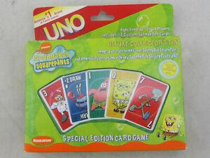 NEW - Spongebob Squarepants Special Edition UNO Card Game In Tin 2001 NIB