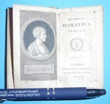 Quintus Horatius Flaccus Londini 1820 pickering