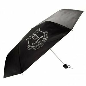 Official Everton Foldable Umbrella, Black and Silver, Brand New