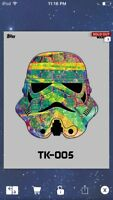 Topps Star Wars Digital Card Trader Grey TK-421 Helmet TK-005 Insert