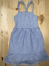 NWT Crazy 8 Girls Cotton Dress Size S M Blue//White