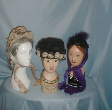 Antique Hats Victorian Group of Three