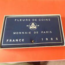 Coffret FDC 1985 pièces France Monnaie de Paris fleurs de coins 100 F Argent
