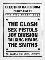 SEX PISTOLS / CLASH/ SMITHS eléctrico Ballroom 40.6cm x 30.5cm Foto Reproducción