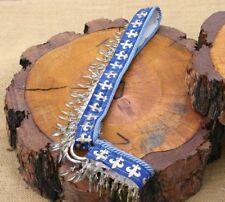 Arabian Show or Presentation Halter - Yearling - Blue & Gold with Tassles Custom