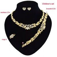 #43 HUGS & KISSES children xo set Gold Filled Kids Set necklace bracelet earring