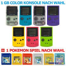 GameBoy Color - Konsole (Farbe nach Wahl) + Nintendo Pokémon Spiel nach Wahl