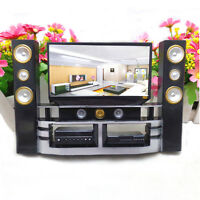 1 Pcs Mini Hi-Fi 1:6 TV Home Theater Cabinet Set Combo For  Doll Jf