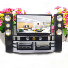 1 Pcs Mini Hi-Fi 1:6 TV Home Theater Cabinet Set Combo For Barbie DollV6D