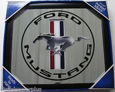 Genuine Ford mustang 25th gt printed mirror Sign Plate logo tag license mach 1