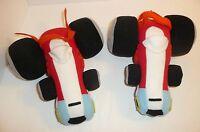 Lot of 2 Wacky Races Peter Perfect Plush Stuffed Cars Racecar Hanna Barbera 1992
