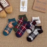 Womens Girls Ankle Socks Low Cut Crew Classic Checks Casual Dress Cotton Socks