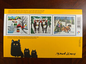 Canada 2020 Nov MNH Stamp SS Christmas Art Maud Lewis And Black Cat