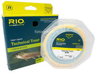 Rio Trout Series Technical Trout Fly Line Weight Forward Floating Sky Blue/Peach