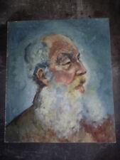 HUILE sur isorel - JOSEP COLOMER - portrait vieillard - CIRCA 1958- 45.5 x 69 cm