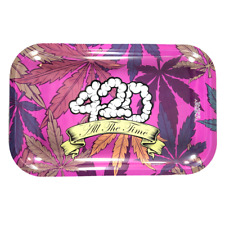 """Smoke Arsenal Premium Rolling Tray """"420 All The Time"""" 7""""x11"""""""
