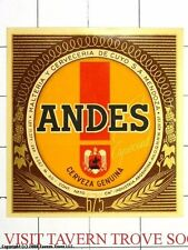 Argentina De Cuyo Mendoza Andes Genuina 675ML Beer Label Tavern Trove