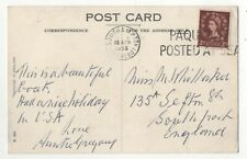 Southampton Paquebot Postmark 16 Apr 1956 RMS Queen Mary Postcard 057c