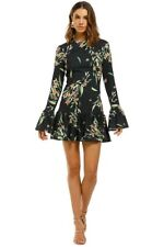 BY JOHNNY | Size 8 | Black Jungle Gather Shift Dress | RRP$330 | Party Floral