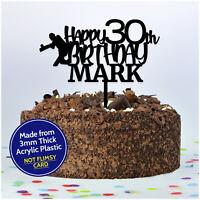 CRICKET Birthday Cake Topper PERSONALISED ANY Age + Name Cricket Cake Decoration