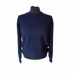 Johnston's of Elgin, 100% cashmere, navy blue jumper Size 40 UK 14