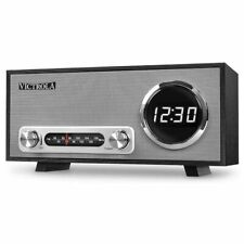 Radio Sveglia FM Cassa Altoparlante Speaker Bluetooth USB Victrola con Orologio