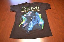 Demi Lovato Neon Lights 2014 Tour T Shirt - Sz M