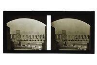 Arles Plaza de Toros Francia Foto C27 Estéreo Placa De Cristal Vintage 1928