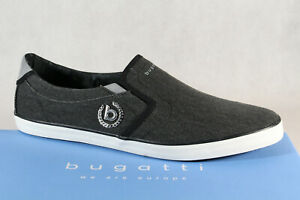 Bugatti Slippers Trainers Sports Shoes Grey/Black 48007 New