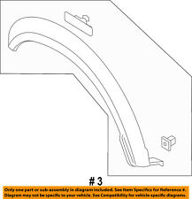 FORD OEM F-150 EXTERIOR TRIM-FENDER-Wheel Opening Molding Right HL3Z16038AA
