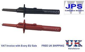 1kV Sprung Hook Test Probes Electrical Fluke Megger Metrel Kewtech 4mm connector