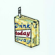 Sequin Drink Away Today (Iron On) Embroidery Applique Patch Sew Iron Badge