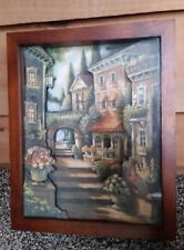 """Beautiful Cliff Patton Shadow Box 3D """"Steps To The Past"""" signed by artist!"""
