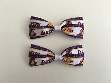 Lakers Hair Bows with Alligator Clips