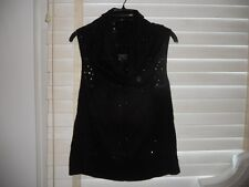 NWOT All Saints ~ Spitalfields ~ Art To Wear ~ Cutout Black Cowl Neck Tank 8 10