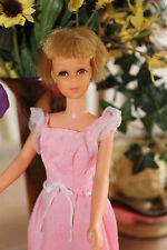 vintage barbie  beautiful bend leg blonde francie SHORT HAIR PINK DRESS