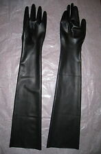 Latex Handschuhe lange Schwarz Black Gloves Gr. S M L XL