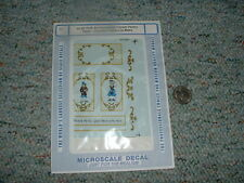 Microscale decals 1/12 Doll House 01-87 Folk Art Prov. French Pastry Tabl D113