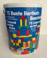 HEROS 75 bunte Hartholz-Baustein...