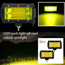 2x 5inch 24LED Flood LED Light Bar Offroad Boat Driving Fog Lamp Truck Yellow