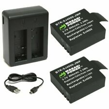 Wasabi Power Battery (2-Pack) and Dual Charger for SJCAM SJ4000, SJ5000 and