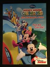 New! Disney Junior Mickey Mouse Clubhouse Big Fun Book To Color Fun as Can be