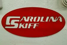 Carolina Skiff sign metal wall art plasma cut decor boat gift idea