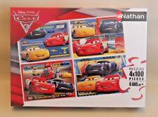 Puzzle Nathan Cars 3 - 4 puzzles de 100 pièces - 36 x 26 cm - NEUF sous blister