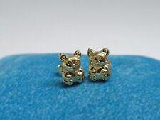 Orecchini ORO giallo orsacchiotto orso 18 KT 750 -52/VE14-