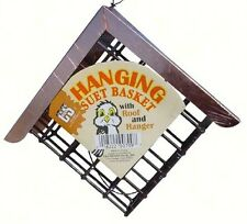 C & S SUET BIRD FEEDER with COPPER ROOF, Holds Standard Size Suet & Seed Cakes