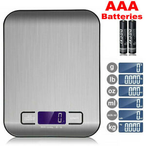 DIGITAL KITCHEN SCALES ELECTRONIC LCD BALANCE SCALE FOOD WEIGHT POSTAL SCALE